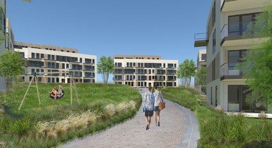Bygging av leiligheter på Langhus